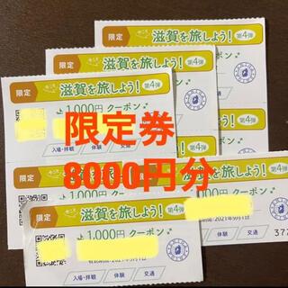 今こそ滋賀を旅しよう!第4段 周遊クーポン 限定券 8000円分(その他)