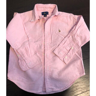 ポロラルフローレン(POLO RALPH LAUREN)の美品ラルフ4Tピンクシャツ(ブラウス)