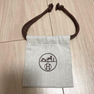 エルメス(Hermes)のHERMES エルメス 保存袋 巾着袋 ヘリンボーン(ショップ袋)