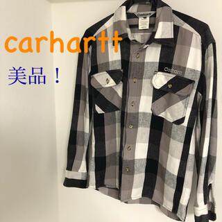 carhartt - カーハート 長袖シャツ ネルシャツ 厚手生地 ブロックチェック 美品 M