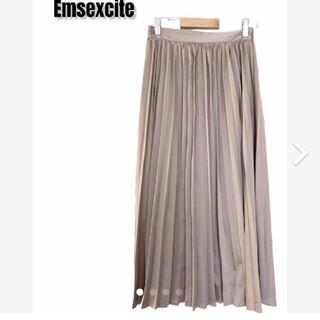 エムズエキサイト(EMSEXCITE)のEmsexcite エムズエキサイト プリーツスカート シャンパンゴールド(ロングスカート)