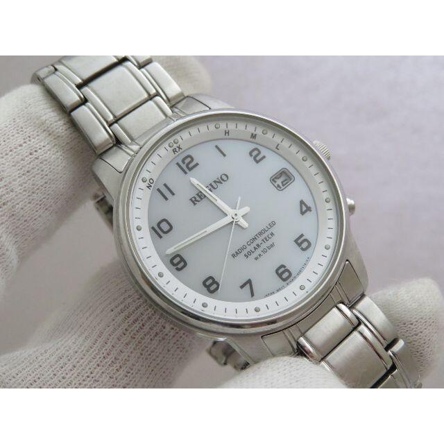 CITIZEN(シチズン)のCITIZEN REGUNO 電波ソーラー腕時計 H415 白文字盤 メンズの時計(腕時計(アナログ))の商品写真