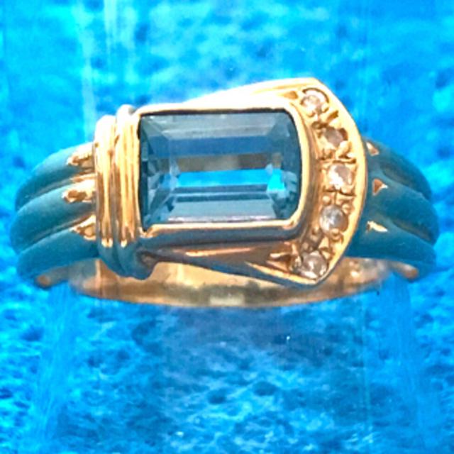 ブルートパーズ K18リング レディースのアクセサリー(リング(指輪))の商品写真