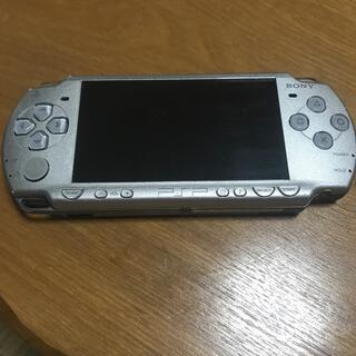 ソニー(SONY)のPSP シルバー  ジャンク(携帯用ゲーム機本体)
