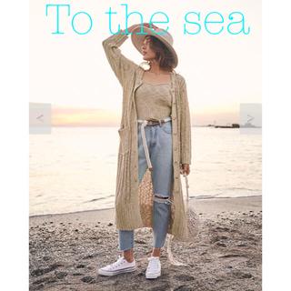 ALEXIA STAM - 新品タグ付き To the sea ミックスニットロングカーディガン ベージュ