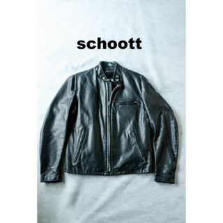 ショット(schott)のschott ショット シングルライダース 141 ボア付 サイズ40(L)(ライダースジャケット)