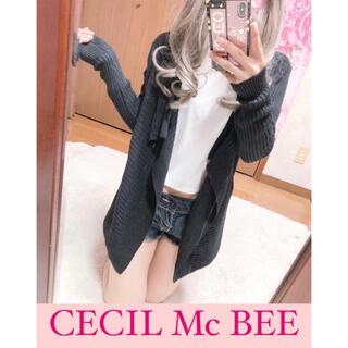 セシルマクビー(CECIL McBEE)の4023.CECIL Mc BEE ニットトッパー 羽織り ラメ入りニット(ニット/セーター)