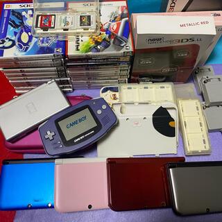 任天堂3dsLL4台、任天堂ds1台、ゲームボーイアドバンス1台、ソフト23本等