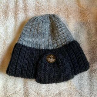 ヴィヴィアンウエストウッド(Vivienne Westwood)のvivienne westwood 耳当て付きニット帽(ニット帽/ビーニー)