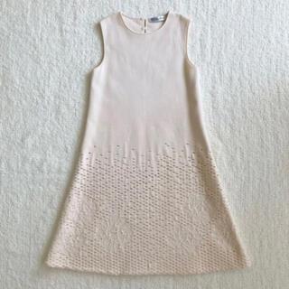 クリスチャンディオール(Christian Dior)の新品 未使用  ディオール  ワンピース  白(ひざ丈ワンピース)
