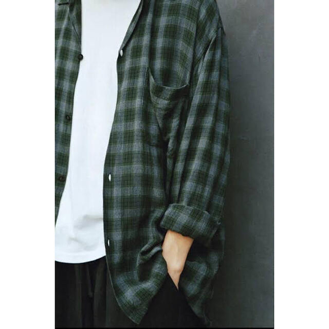 COMOLI(コモリ)のcomoli 20ss レーヨンオープンカラーシャツ size1 メンズのトップス(シャツ)の商品写真