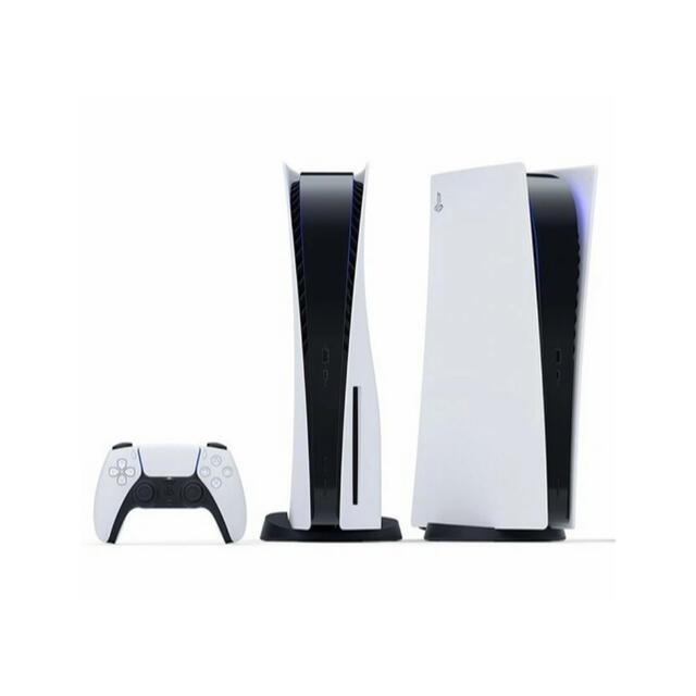 PlayStation(プレイステーション)のPlayStation5 ディスクドライブ搭載 (CFI-1000A01)  エンタメ/ホビーのゲームソフト/ゲーム機本体(家庭用ゲーム機本体)の商品写真