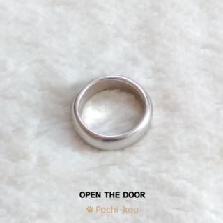 セール OPEN THE DOOR ラウンド リング 指輪 マット 11号 銀色