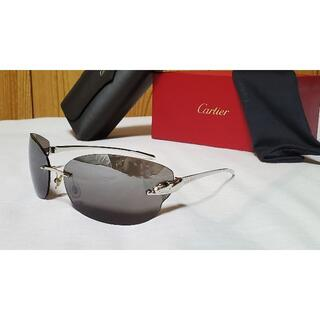 カルティエ(Cartier)の正規未 限定 カルティエ パンサーメタルサングラス 黒 豹柄 パンテール 付属有(サングラス/メガネ)