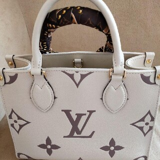 LOUIS VUITTON - ルイヴィトン オンザゴーPM 完売品 クレーム