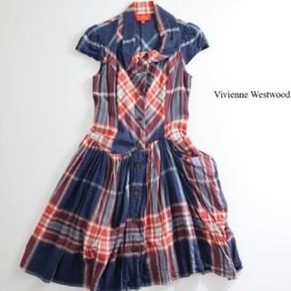 ヴィヴィアンウエストウッド(Vivienne Westwood)の【VW】変形シャツワンピース(ひざ丈ワンピース)