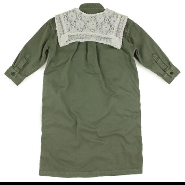 GO TO HOLLYWOOD(ゴートゥーハリウッド)のGO TO HOLLYWOODアーミーシャツ襟付きワンピース キッズ/ベビー/マタニティのキッズ服女の子用(90cm~)(ワンピース)の商品写真