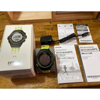 エプソン(EPSON)のエプソン ランニングウォッチ Q-10 イエロー  EPSON(ランニング/ジョギング)