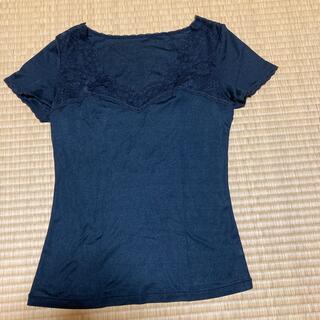 シャルレ(シャルレ)のシャルレ ドゥバンナ 半袖インナー ブラック IA461(アンダーシャツ/防寒インナー)