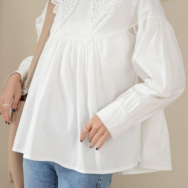 ボリューム袖のレトロビッグカラーブラウス DAY CLOSET デイクローゼット レディースのトップス(シャツ/ブラウス(長袖/七分))の商品写真