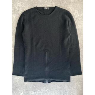 ヨウジヤマモト(Yohji Yamamoto)のヨウジヤマモト カシミア 裾ジップ クルーネックニット #[886](ニット/セーター)