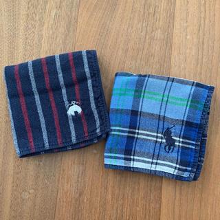 ポロラルフローレン(POLO RALPH LAUREN)のラルフローレン タオルハンカチ ブルックスブラザーズ 2枚セット 青系(ハンカチ/ポケットチーフ)