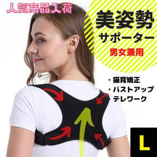 姿勢矯正 サポーター 猫背 ベルト サポーター 男女兼用 大人用 【L】(エクササイズ用品)