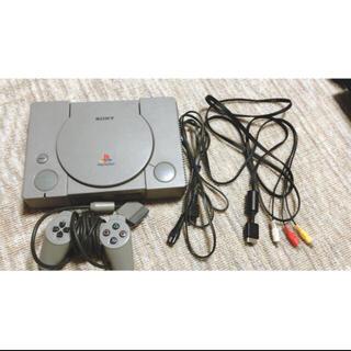 プレイステーション(PlayStation)のPS 本体(SCPH-7500)とコントローラー、ケーブル(家庭用ゲーム機本体)