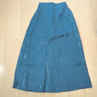 GU - ブルーグリーンのロングスカート