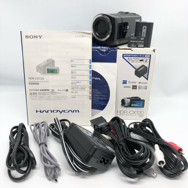 SONY(ソニー)のソニー SONY デジタルHDビデオカメラレコーダー HDR-CX120/B スマホ/家電/カメラのカメラ(ビデオカメラ)の商品写真