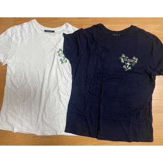 ゲス(GUESS)のGUESS ネイビー 半袖tシャツ(Tシャツ/カットソー(半袖/袖なし))