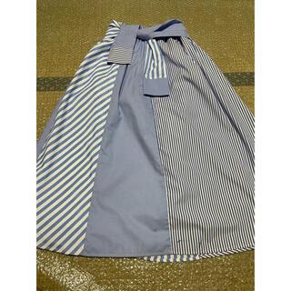 セシルマクビー(CECIL McBEE)のセシルマクビー ストライプ ロングフレアスカート(ひざ丈スカート)