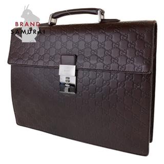 グッチ(Gucci)のグッチ グッチシマ ダークブラウン ビジネスバッグ ブリーフケース 300401(ビジネスバッグ)