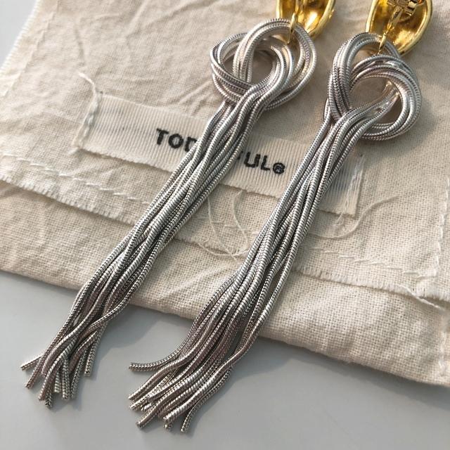 TODAYFUL(トゥデイフル)のTODAYFUL スネークチェーンタイイヤリング 美品 chieko e.m. レディースのアクセサリー(イヤリング)の商品写真