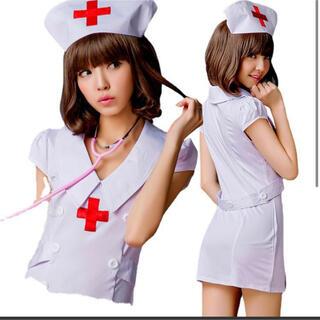 看護師 看護 ナース 介護 白 コスプレ なりきり ハロウィン 病院 在宅 気分(衣装一式)