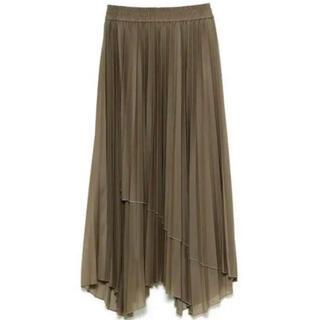 ミラオーウェン(Mila Owen)のMila Owen 新品未使用 アシメヘムエスパンディプリーツスカート(ロングスカート)
