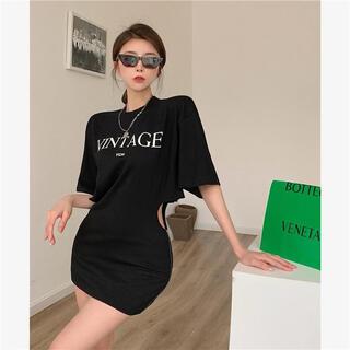 ジェイダ(GYDA)のサイドファスナー Tシャツ(Tシャツ(半袖/袖なし))