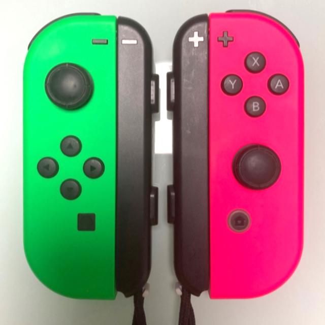 Nintendo Switch(ニンテンドースイッチ)のNintendo Switch Joy-Con ネオングリーン×ネオンピンク エンタメ/ホビーのゲームソフト/ゲーム機本体(家庭用ゲーム機本体)の商品写真