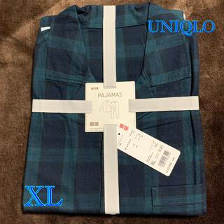 UNIQLO - 新品 ユニクロ フランネルパジャマ XL ブラックウォッチ コットン100%