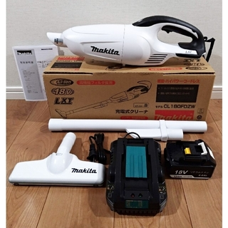Makita - 新品・未使用 マキタ 18V充電式クリーナー 充電器セット CL180FDZW