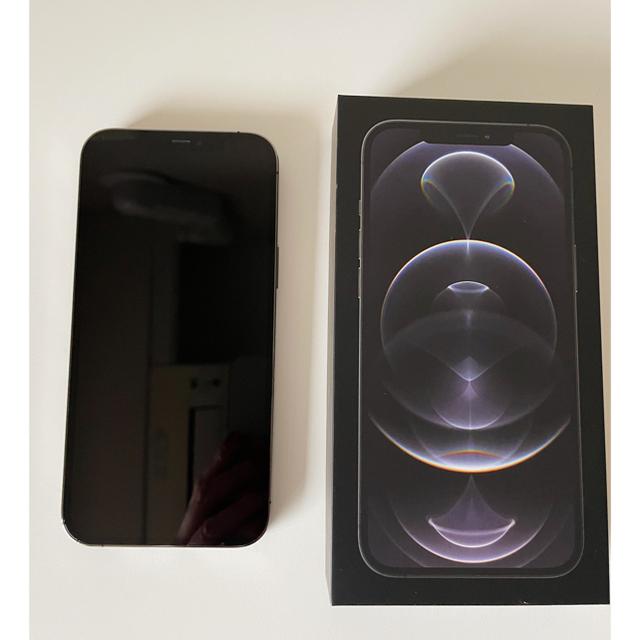 Apple(アップル)のiPhone 12 Pro Max 256GB グラファイト SIMフリー スマホ/家電/カメラのスマートフォン/携帯電話(スマートフォン本体)の商品写真