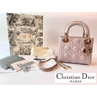 Christian Dior - Lady Dior レディディオール バッグ ミニ ピンク
