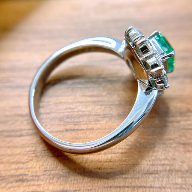 上質エメラルドダイヤモンドリング pt900 E0.86ct D0.94ct レディースのアクセサリー(リング(指輪))の商品写真