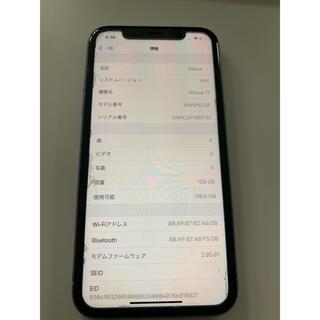 iPhone - 【中古品】iPhone11 128GB  パープル 本体のみ SIMフリー