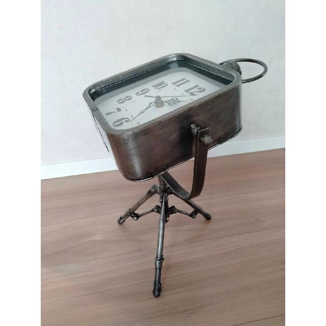 置き時計 アンティーク 三脚 レトロ スタンドクロック インテリア/住まい/日用品のインテリア小物(置時計)の商品写真