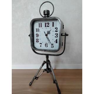 置き時計 アンティーク 三脚 レトロ スタンドクロック