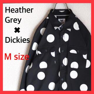 Dickies - ヘザーグレーウォール ディッキーズ コラボ シャツ 水玉 ブラック 古着 レア