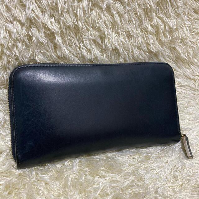 WHITEHOUSE COX(ホワイトハウスコックス)のホワイトハウスコックス 長財布 ラウンドファスナー ブライドルレザー ビンテージ メンズのファッション小物(長財布)の商品写真