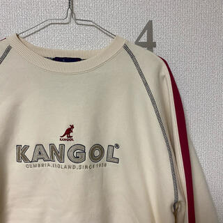 KANGOL - KANGOL カンゴール スウェット トレーナー ホワイト ベージュ クリーム