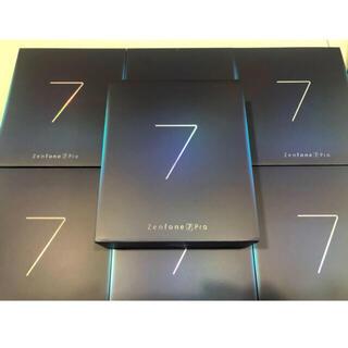 エイスース(ASUS)の☆7台セット☆ASUS エイスース ZenFone 7 Pro パステルホワイト(スマートフォン本体)